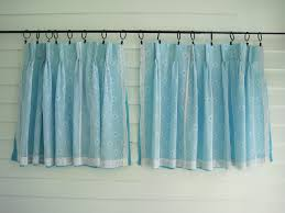 Vintage Blue Curtains Sixties Aqua Blue By Yourauntiespanties New
