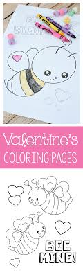 ⭐ free printable valentines day coloring book. Valentine S Coloring Pages For Kids Crazy Little Projects