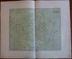 Celestial Star Chart Sky Heavens Zodiac Symbols C 1875