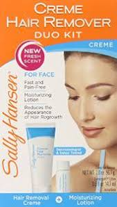 this affordable sally hansen cream hair remover duo kit has remained one of the most por pain free hair removal creams for the face upper lip and chin