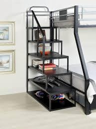 livingroom bunk shelf shelves for college loft bookshelf ladder smile furniture america metal side small bookcase