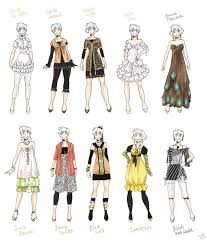 anime girl clothes designs. Contemporary Girl Various Female Clothes 5 By Meagodeviantartcom On DeviantART For Anime Girl Clothes Designs E
