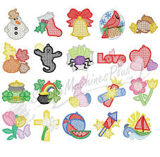 Free Standing Lace Embroidery Designs Free Dakota Collectibles Free Standing Holiday Variety Lace