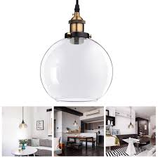 vintage pendant light ball glass hanging fixture ceiling chandelier edison lamp home color opt 0