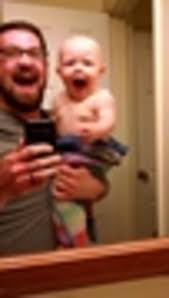 dad teaches baby how to scream