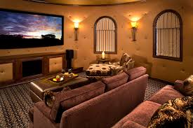 theater room lighting. Mediterranean Theater Room Mediterranean-home-theater Lighting O