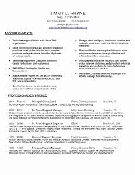 Sample Resume For Entry Level Technical Support Fresh Technical