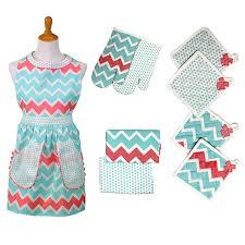 kitchen apron. amrapur overseas 9piece kitchen apron set a