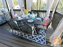hampton bay outdoor rugs deck decorating ideas bay fall river outdoor dining set and an indoor