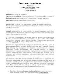 Federal Resume Template Template Federal Resume Template Word Executive Free Samples 72