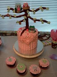 Owl Cupcake Cake Baby Shower