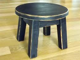 small wooden step stool round stools