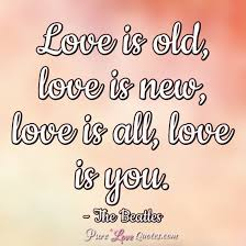 Beatles Love Quotes Best Love Is Old Love Is New Love Is All Love Is You PureLoveQuotes