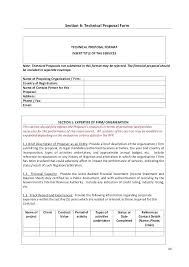 Technical Proposal Templates Technical Financial Proposal Template 8 Templates Doc And