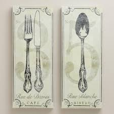on vintage style kitchen wall art with vintage style french bistro wall art set of 2 world market