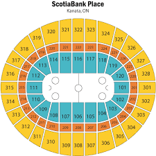 Canadian Tire Centre Detailed Seating Chart Interpretive Scotiabank Place Ottawa Concert Seating Chart