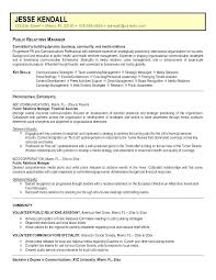 Examples Of Public Relations Resumes Sample Public Relations Resume Yuriewalter Me