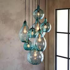 turquoise glass pendant lamp lighting great home lights