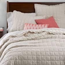 Modern Quilts & Coverlets   west elm & Belgian Flax Linen Quilt + Shams ... Adamdwight.com