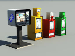 Newspaper Vending Machine Locations Adorable Free 48D Models Newspaper Vending Machines POVRay