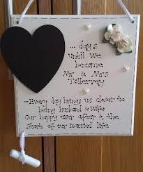 custom wedding countdown plaque kaz kraft uk Wedding Countdown Photos custom wedding countdown plaque wedding countdown images