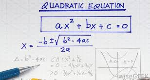 quadratic equations contain a single variable x expressed with three terms