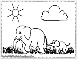Small Picture Coloring Pages Animals Elephant Coloring Pages Elephant