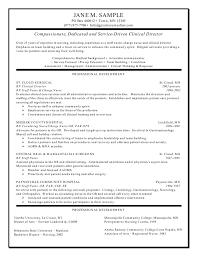 Resume Sample General Rn Clinical Director Resume Resume Sample