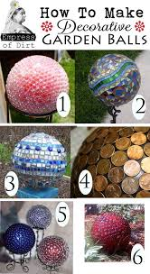 Decorating Bowling Balls Marbles Custom How To Makre Decorative Garden Art Balls Stained Glass Pinterest