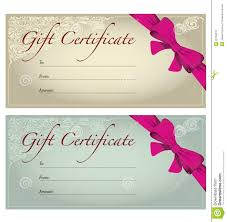 gift voucher coupon template bow ribbons stock photos gift voucher stock photography