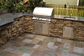 outdoor kitchen countertop material