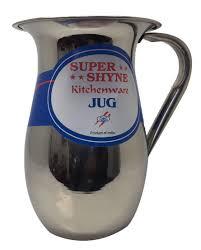 stainless steel jug pitcher w o lid supershyne 31940 jug pitcher