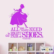 cinderella shoes princess girls bedroom e wall art