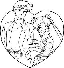 Small Picture Sailor Moon Series Coloring Pages Aino Minako Colorear Sailor