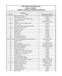 6 Week Work Schedule Template 6 Weekly Office Schedule Template Cleaning Week Work U2013