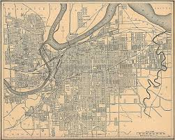 antique map of kansas city from   kansas city missouri • mappery