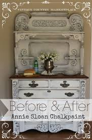 Annie Sloan Pure White & French Linen Before and After Tutorial. http://