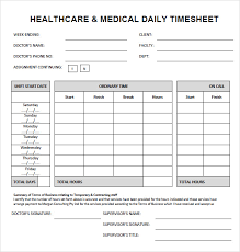Time Sheets Excel Daily Timesheet Template Free