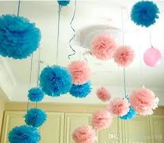 Crepe Paper Flower Balls Paper Flower Balls Decorations Colorful Pom Poms Kissing