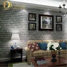Us 266 Moderne Braun Grau Weiß Schwarz Ziegel Tapete Für Wände 3 D Für Schlafzimmer Wohnzimmer Strömten Ziegel Wand Textur Wandbild Wand