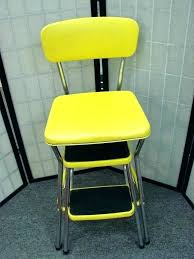 vintage step stool retro kitchen chair yellow image for antique
