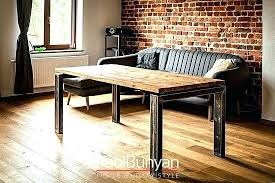 metal dining table top round old wood and tables reclaimed nz stylish idea 2 base surprising