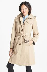 women s fashion outerwear trenchcoats tan trenchcoats london fog trench coat with detachable hood liner