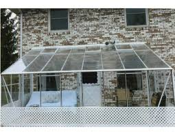 see thru polycarbonate lean to