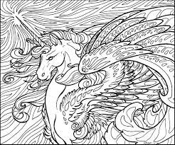 Unicorno Difficile Disegno Da Colorare Disegno
