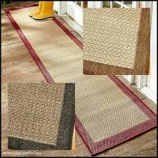 indoor outdoor extra long border floor runner rug brown black red 72 96