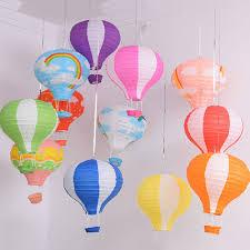 12 kids rainbow hot air balloon paper lantern lampshade ceiling light shade uk