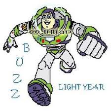 Details About Toy Story Buzz Lightyear Cross Stitch Pattern