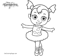 Vampirina Coloring Pages Excellent Ideas Baby Nosy Ballerina Get