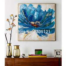 blue flower wall art canvas